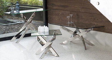 Vida Living Kalmar Glass Living Room