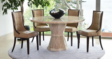Vida Living Marcello Marble Dining Room