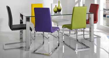 Vida Living Mezzi Glass Dining Room