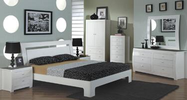 Vida Living Newport White Gloss Bedroom