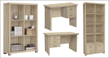 Vida Living Oscar Light Oak Office Furniture