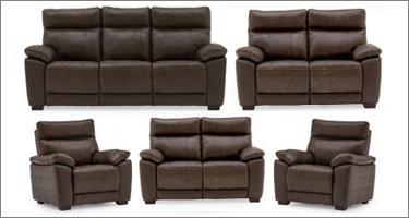 Vida Living Positano Brown Leather Sofas