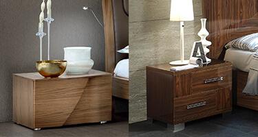 Walnut Bedside Cabinet