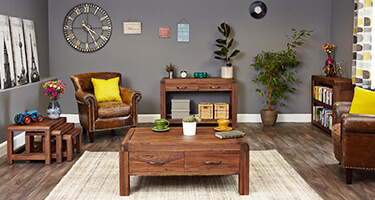 Walnut Living Room Furniture UK