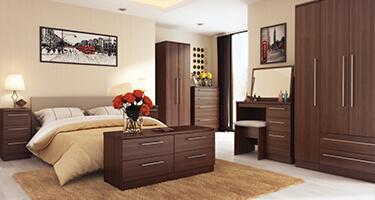 Welcome Furniture Walnut Bedroom
