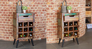 Wine Rack with Drawer