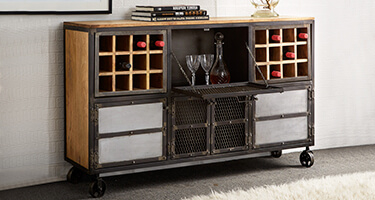 Wine Rack with Shelf
