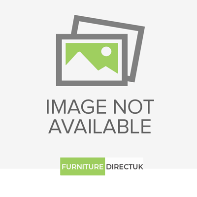 Welcome Furniture Knightsbridge High Gloss Cream and Black Kneehole Double Pedestal Dressing Table